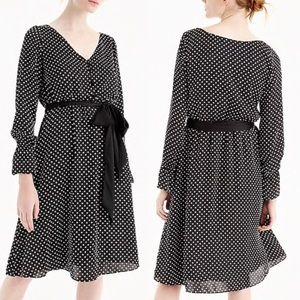 J Crew Polka Dot Ruffle Sleeve Dress